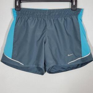 Nike Running Dri-Fit Grey & Blue Athletic Shorts